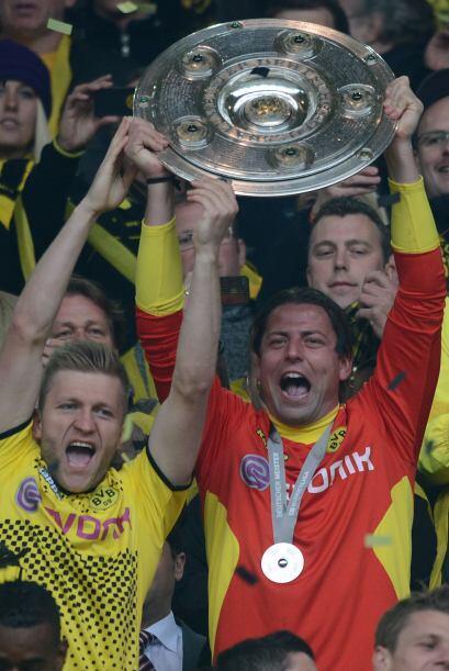 Borussia Dortmund festejó su bicampeonato en la 'bundesliga'  con una go...