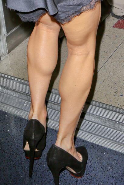 En las imágenes se pueden ver unas piernas bastante delgadas, per...