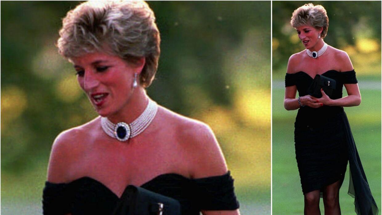 La princesa Diana usó este vestido negro de chifón en el 1994 durante un...