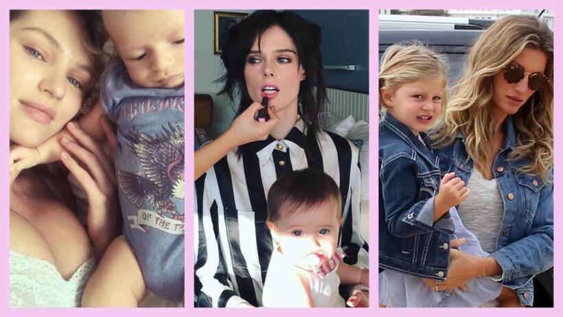 Mamás que son modelos