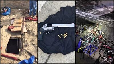 Más de mil biciletas y un revólver en el búnker de...