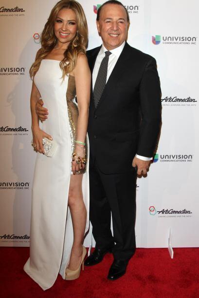Thalía fue con Tommy Mottola a una gala benéfica en Manhattan.