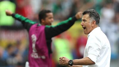 Las reacciones de Juan Carlos Osorio en el partido entre México y Alemania