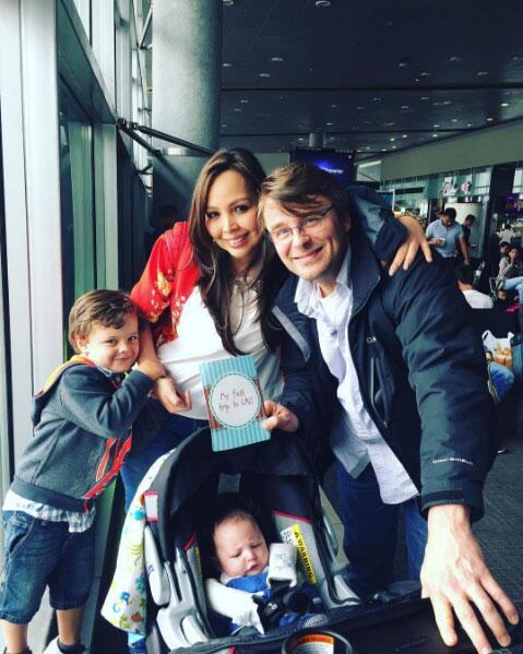 Juan Pablo Gamboa y su familia