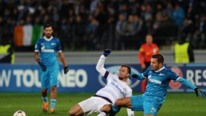 Zenit y Austria Viena no se hicieron goles.