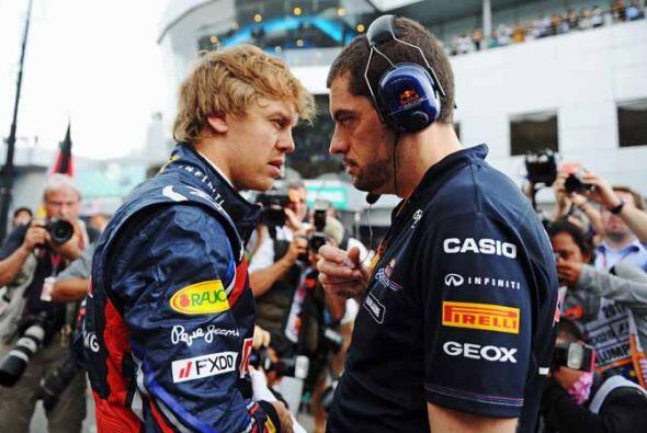Sebastian Vettel, el actual campeón de la Fórmula 1, en la...
