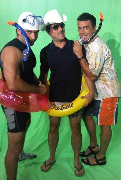 Te gustaría encontrar a estos tres amigos en la playa.
