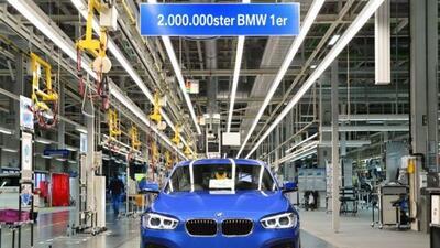 El BMW Serie 1 llegó a 2 millones de unidades producidas.
