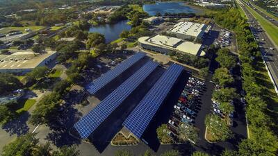 Instalación solar compartida en Orlando