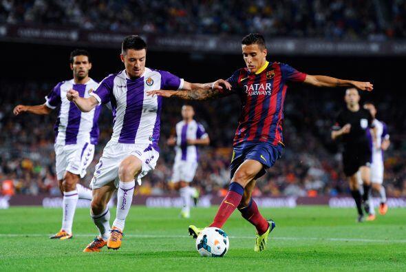 El Barcelona ganó con faciidad al Valladolid en un partido sin Messi per...