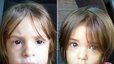 Angelina, de 3 años, y su hermana Melanie, de 18 meses, fueron encontrad...