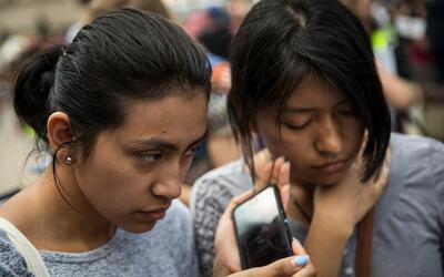 Inmigrantes indocumentados durante una manifestación en Washingto...