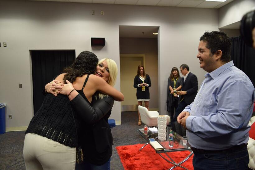 El emocionante encuentro entre Miguel Carrasquillo con la diva ponceña o...
