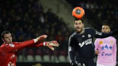 Gignac hizo el gol con el que el Marsella ganó en Evian.