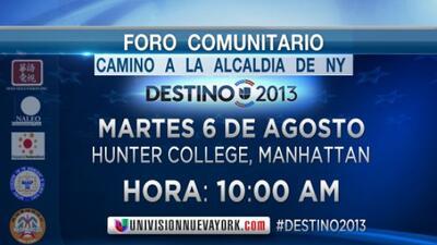 """Foro Comunitario """"Camino a la Alcaldía de Nueva York"""" con Enrique Teutel..."""