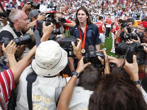 El 16 de octubre del 2004, en un partido entre el FC Barcelona y el Espa...