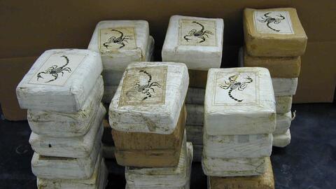 Ladrillos de cocaína marcada con un escorpión que sol&iacu...