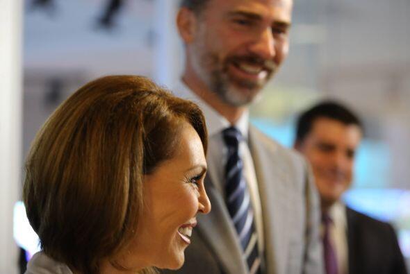 El príncipe Felipe de Borbón y Maria Elena Salinas, en New...