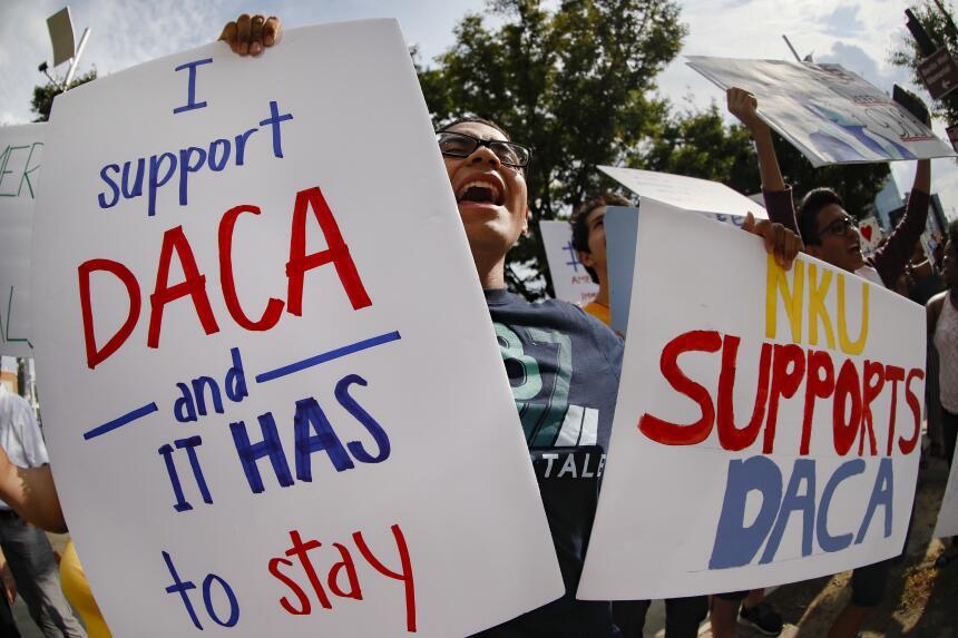 Marchas en Los Angeles tras el fin de DACA