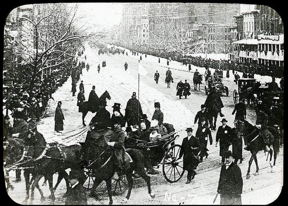 William Howard Taft inauguration. President William Howard Taft and his...
