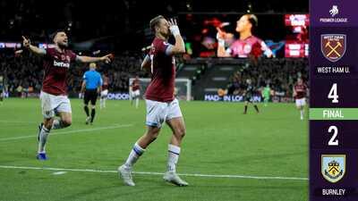 ¡'Chicharito' ya anotó! El mexicano redondea la victoria del West Ham ante el Burnley
