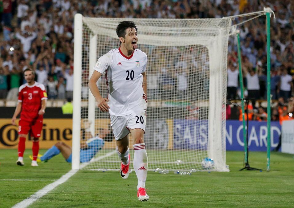 Grupo B. Sardar Azmoun (Iran) - fue la cuota de gol de su país en las El...