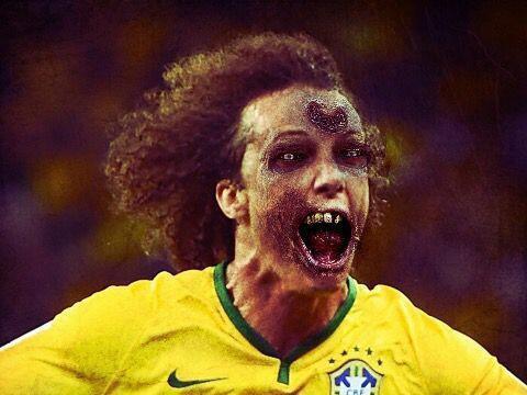 David Luiz, seleccionado de Brasil y defensa del París Saint-Germ...
