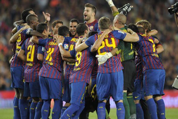 Llegó el silbatazo final y el Barcelona ya comenzó su cele...
