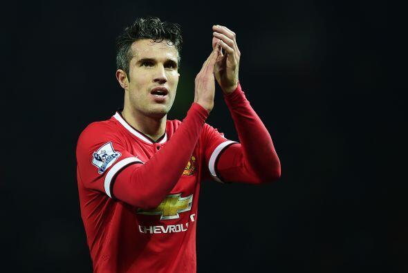En el quinto sitio se encuentra el holandés del Manchester United, Robin...