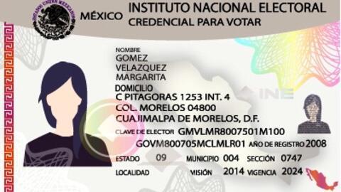 Modelo de credencial de elector de México.