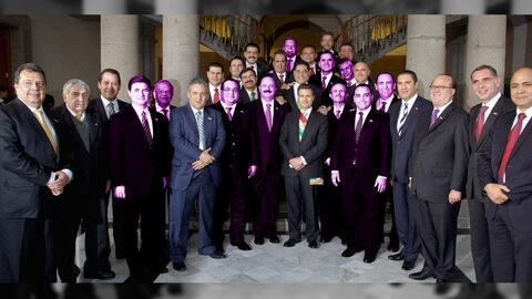 Gobernadores que acompañaron a Enrique Peña Nieto en su to...
