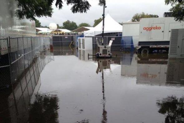 Lamentablemente las lluvias del sábado por la noche causaron inundacione...