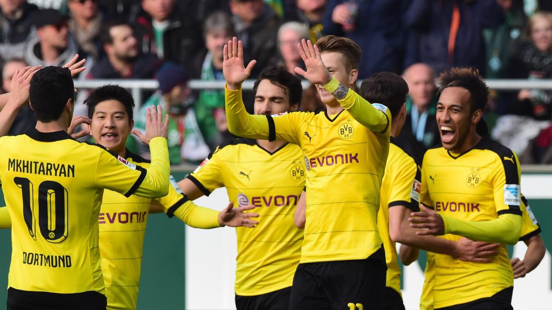 Borussia Dortmund goleó al Bremen