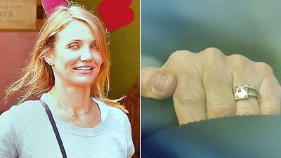 Cameron Diaz nos enseña su anillote de casada