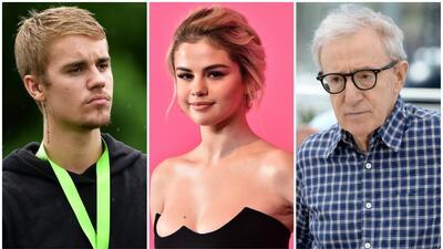 Justin Bieber, Selena Gomez, Woody Allen