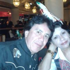 Vicente Medina junto a su esposa, Virginia Millares, en una imagen de 2017
