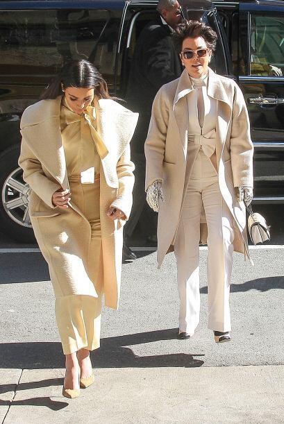 Aunque no vestían el mismo tono, casi parecían gemelas. Mira aquí los vi...