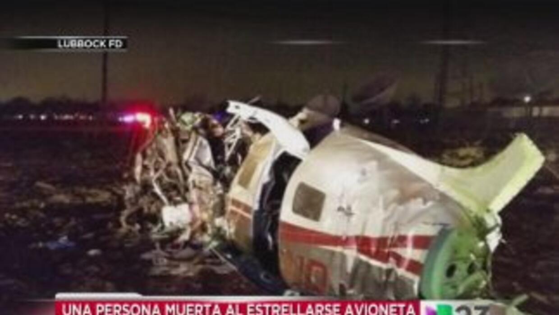 La avioneta chocó contra una torre de transmisión de la estación de tele...