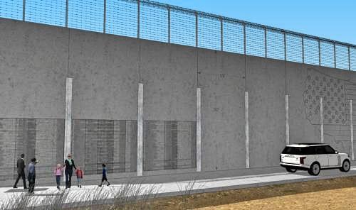 Muro memorial: Diseño conjunto de empresas de Iowa que sería construido...