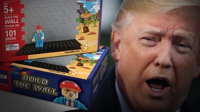 Juguete que simula la construcción del muro habría sido auspiciado por Donald Trump