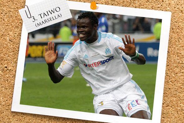 También del fútbol francés, tenemos a Taye Taiwo.