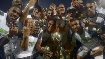 Atlético Nacional celebra otro título en Colombia.