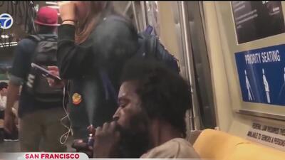 Arrestan a hombre por fumar crack en el BART