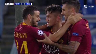 ¡GOOOL! Cengiz Ünder anota para Roma