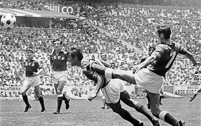 México contra la URSS en el Mundial de 1970.