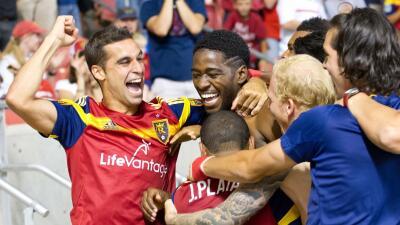 Jaime celebra el golazo de Olmes Garcia para Real Salt Lake