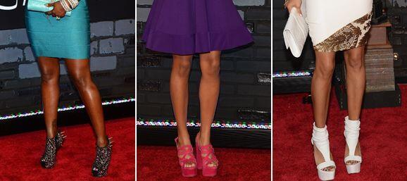 Los zapatos son pieza clave para que los atuendos de las famosas sean la...