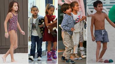 Así hemos visto crecer a Max y Emme, los gemelos de Jennifer López y Marc Anthony