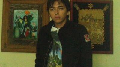El estudiante Ricardo de Jesús Esparza, en una imagen que compartió en s...