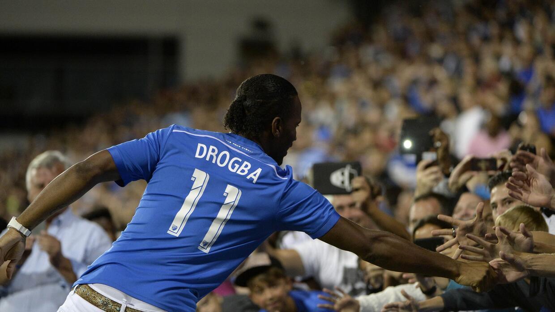 Drogba fue ovacionado por la afición del Impact